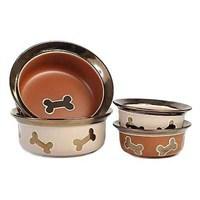 Petrageous Napa Matte Metallics Dog Bowl Seramik Mama Kabı 70632