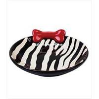 Petrageous Zebra Buzz Kırmızı Seramik Mama Kabı
