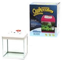 Quik K-300 Kedi Şekilli Akvaryum Beyaz 30 Cm X 23,5 Cm X 34,5 Cm