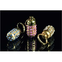 Karlie Taşlı Pretty Adres Tüpü Gold 30X12mm K15218