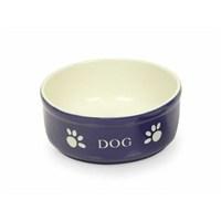 Nobby Dog Seramik Mama Kabı Mavi/Bej 12Cm 73316