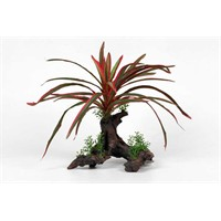 Natural Color Plastik Bitki Akvaryum Dekoru 26 Cm N118
