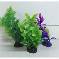 Akvaryum Dekor Plastik Bitki Renkli 16 Cm Pb155