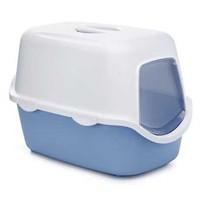 Stefenplast Cathy Kapalı Kedi Tuvalet Kabı Mavi