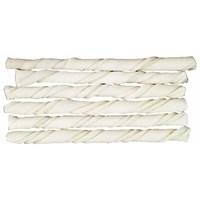 Beyaz Burgu Köpek Çiğneme Çubuğu 12 Cm 50 Adet