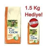 Cat Chow Tavuklu Ve Hindili Yetişkin Kuru Kedi Maması 15 Kg + 1.5 Kg