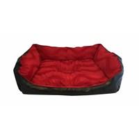 Leos Deri Orta Irk Köpek Yatağı Kırmızı No:3 75 X 55 X 30 Cm