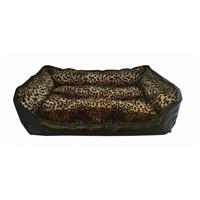 Leos Deri Büyük Irk Köpek Yatağı Leopar Desenli No:4 95 X 70 X 32 Cm