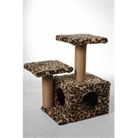 Leo's Kedi Yuvası Ve Tırmalama Tahtası Leopar 45 X 35 X 65 Cm
