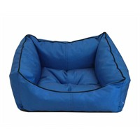 Leos Dış Mekan Küçük Irk Köpek Ve Kedi Yatağı Mavi No:1 50 X 40 X 10 Cm