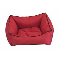 Leos Dış Mekan Küçük Irk Köpek Ve Kedi Yatağı No:1 50 X 40 X 10 Cm Kırmızı