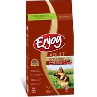 Enjoy Premium Adult Lamb & Rice Kuzu Etli Ve Pirinçli Yetişkin Köpek Maması 15 Kg
