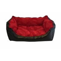 Leos Deri Orta Irk Köpek Yatağı Kırmızı No:2 65 X 50 X 30 Cm