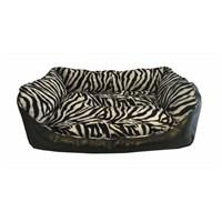 Leos Deri Orta Ve Büyük Irk Köpek Yatağı Zebra Desenli No:3 75 X 55 X 30 Cm