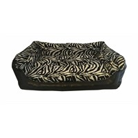 Leos Deri Büyük Irk Köpek Yatağı Zebra Desenli No:4 95 X 70 X 32 Cm