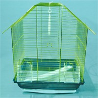 Qhpet Pirinç Telli Üçgen Çatılı Kuş Kafesi 34,5X26x44