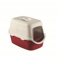 Stefanplast Cathy With Filtreli Tuvalet Kabı Bordo 56x40x40H