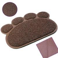 Catmat Pati Desenli Kedi Paspası Kahverengi 60X45 Cm