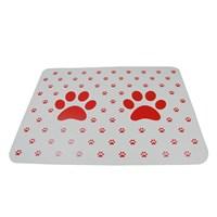 Trend Store Kedi Patili Mama Servis Altlığı-Kırmızı