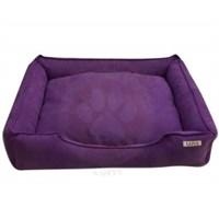 Lepus Soft Eflatun Fermuarlı Kedi Köpek Yatağı Large No:3