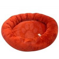 Lepus Peluş Simit Kedi Ve Küçük Irk Köpek Yatağı Kırmızı Lps-100-01