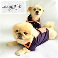 Athletıque By Kemique - Lacivert Turuncu Köpek Tişört