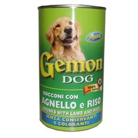 Gemon Köpek Konserve Kuzulu Pirinçli 1260 Gr gk