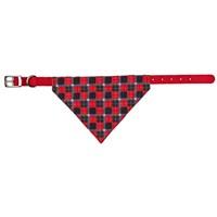 Bandanalı Köpek Tasması Kırmızı Renkli, XS 19-24cm/10mm kırm