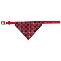 Trixie Bandanalı Tasma Kırmızı Renkli, S-M 30-38cm/20mm kırm