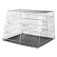 İki Köpek İçin Galvaniz Köpek Taşıma Kafesi 93x68x79cm