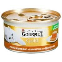 Pro Plan Pro Plan Gourmet Gold Kıyılmış Ördekli, Havuçlu Ve Ispanaklı Konserve Kedi Maması 85 Gr x 24'lü