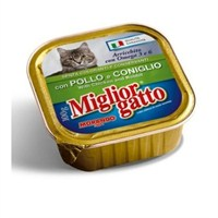 16 x 100 Gr Miglior Gatto Tavuklu ve Tavşanlı Yetişkin Konserve Kedi Mamasi