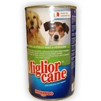 Miglior Cane Pollo Riso e Verdure Tavuklu, Prinçli ve Sebzeli Katkısız Köpek Maması 1250gr