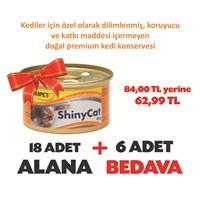 Gimpet Shinycat Ton Balığı&Tavuk Kedi Konserve 85 Gr 18+6