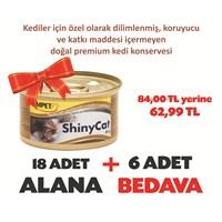 Gimpet Shinycat Tavuk&Karides&Malt Kedi Konserve 85 Gr 18+6