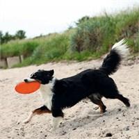 Trixie köpek yüzen termoplastik kauçuk frizbi 18cm Turuncu