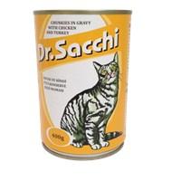 Dr.Sacchi Kedi Konserve Tavuk Ve Hindi Etli 400 Gr