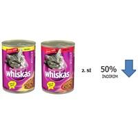 Whiskas Konserve Biftekli ve Tavuklu 400 Gr. ikincisi %50 indirimli!