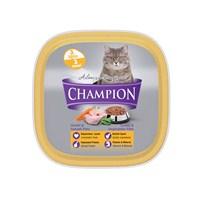 Champion 32 Adet Hindili ve Sebzeli Pate Yaş Kedi Maması 100 Gr