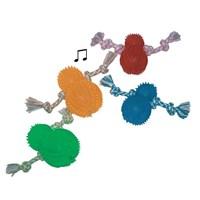 Dr. Sacchi Halatlı Kauçuk Köpek Oyuncağı Düdüklü 3.5''x7.5''