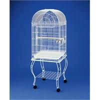 Sehpalı Papağan Kafesi Beyaz