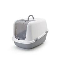 Nestor Jumbo Kedi Tuvaleti Gri - Beyaz