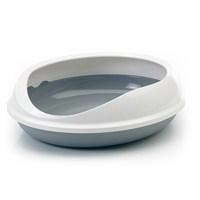 Savic Figaro Kedi Tuvalet Kabı - Beyaz-Gri gk