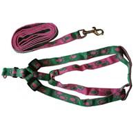 Pet Zoom Kedi Köpek Göğüs Tasması - Pembe/Yeşil