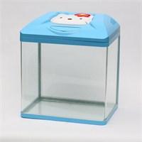 Kedi Tasarımlı Mavi Akvaryum 30Lt
