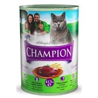 Champion Ciğerli Yaş Kedi Konserve Maması 415 gr FD*