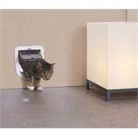 Savic Access 4 Way Basic Kedi Kapısı Beyaz (Cam Ölçüsü 15x15,5 cm)