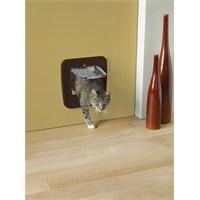 Savic Access 4 Way Upgradable Kedi Kapısı Kahverengi (Cam Ölçüsü 17x17,5 cm)