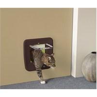 Savic Access 4 Way Kedi Kapısı Manyetik Kahverengi (Cam Ölçüsü 17x17,5 cm)
