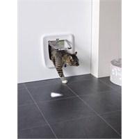 Savic Access 4 Way Kedi Kapısı Manyetik Beyaz (Cam Ölçüsü 17x17,5 cm) gk